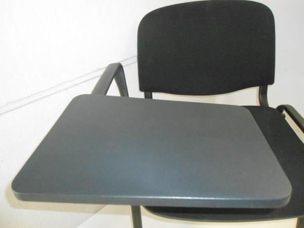 Stock sedia da conferenza nera con bracciolo e tavoletta scrittoio ...