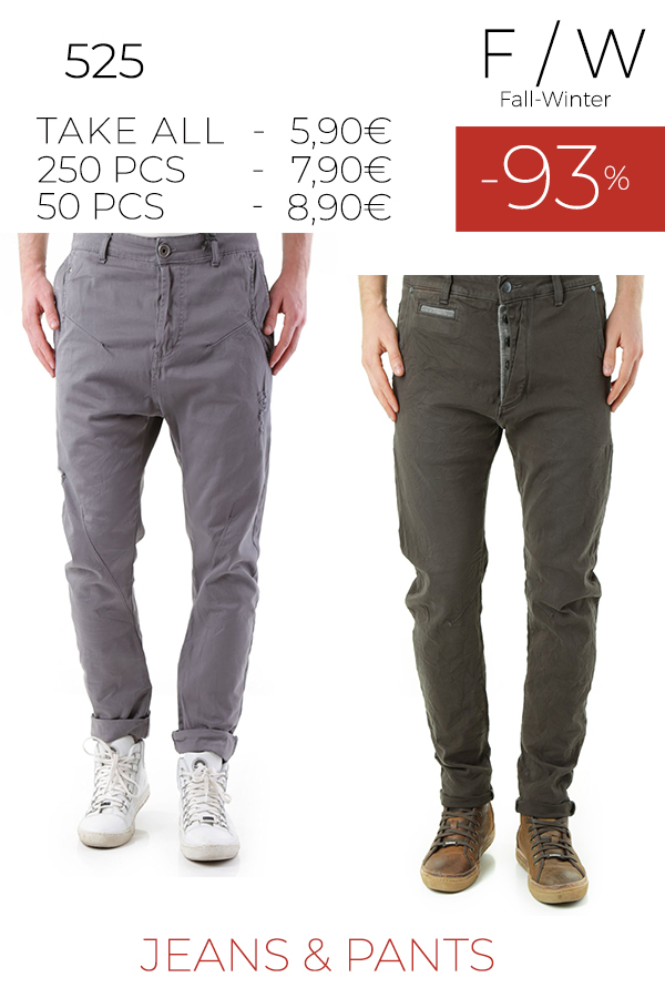 stock uomo jeans pantaloni 525 f/w