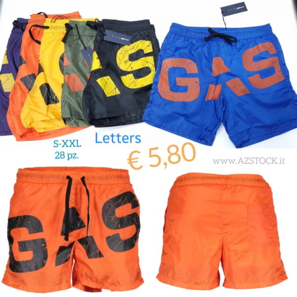 stock costumi Gas Letters
