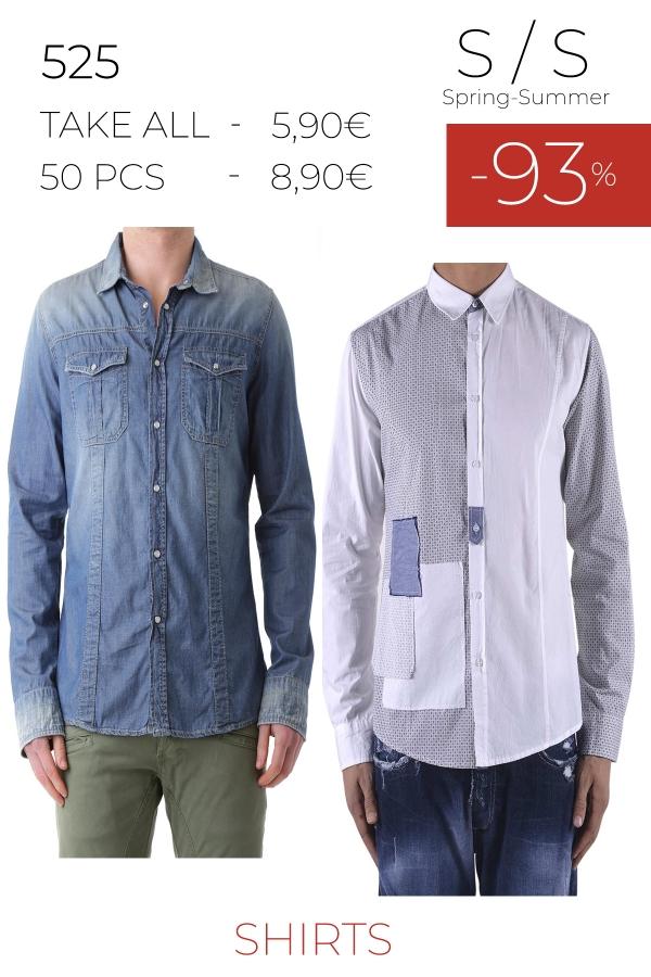 stock camicie uomo 525 S/S