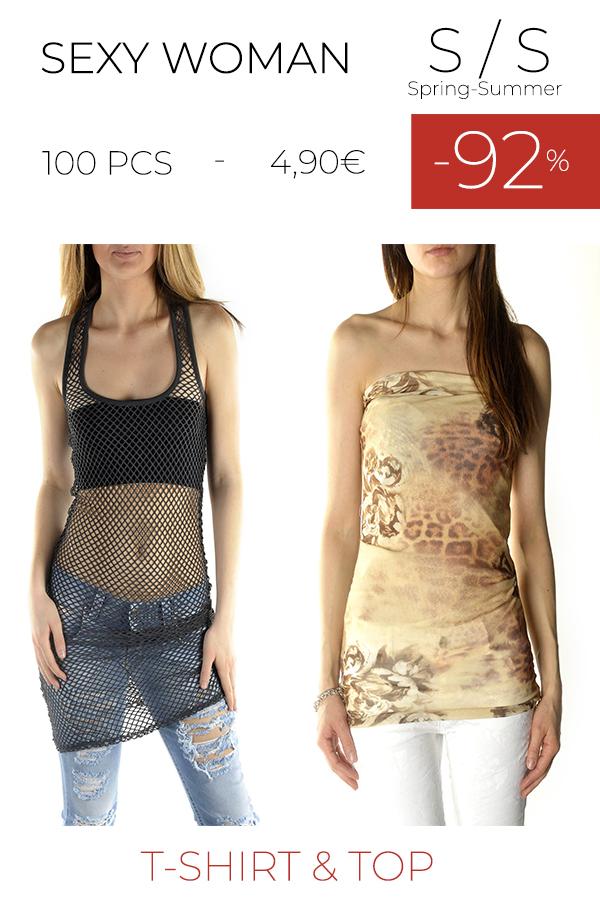 stock t-shirt e top SEXY WOMAN S/S