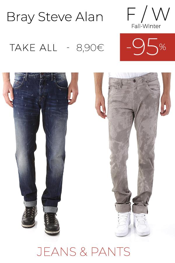 stock uomo jeans pantaloni BRAY STEVE ALAN F/W
