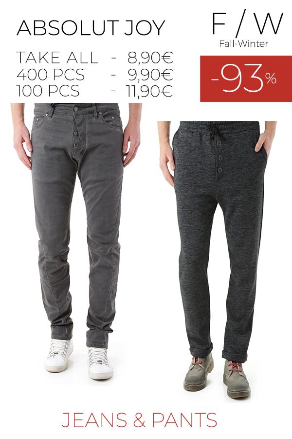 stock uomo jeans pantaloni ABSOLUT JOY F/W