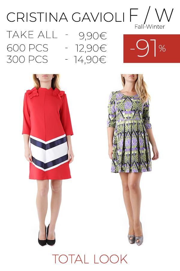 stock total look CRISTINA GAVIOLI - OLIVIA HOPS - REBECCA F/W