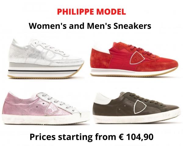Stock sneakers uomo e donna PHILIPPE MODEL