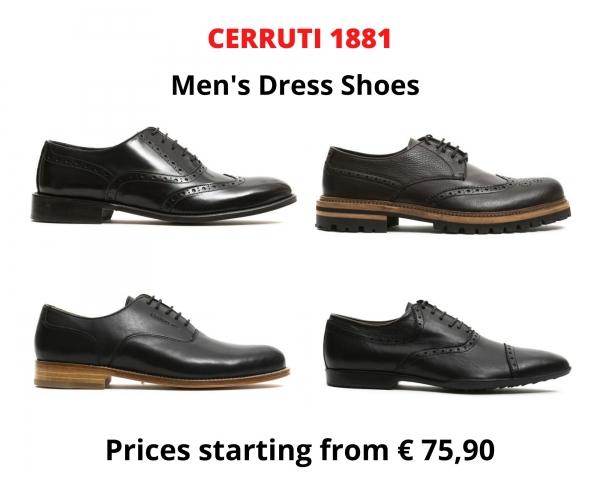 Stock scarpe eleganti uomo CERRUTI 1881